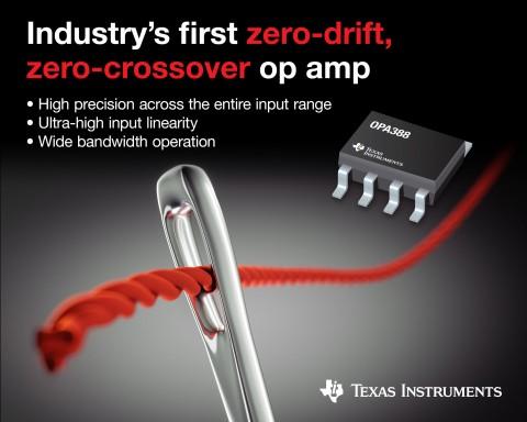 TI, 높은 정밀도를 제공하는 업계 최초의 제로 드리프트...