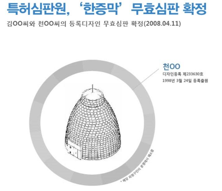 특허심판원, 한증막 무효심판 확정