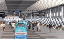 공항용 무인자동차… 사람들의 탑승수속절차 돕는다